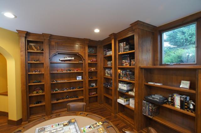 Custom Basement Library