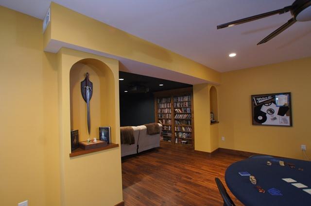 Basement Rec & Theater Rooms