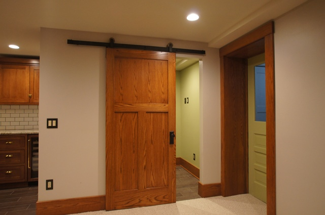 Sliding Barn Door to Workout Room