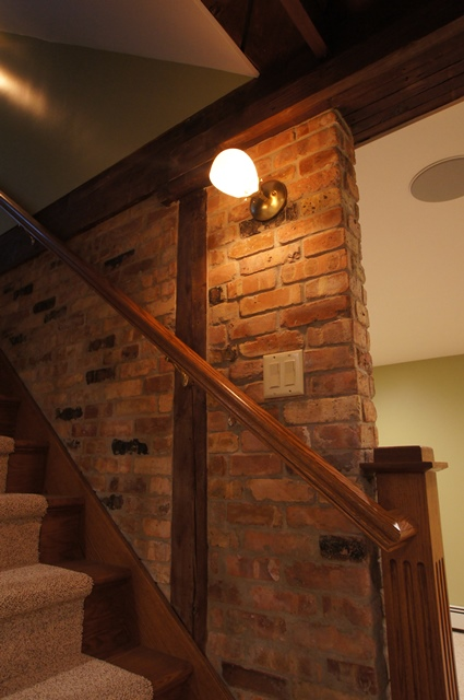 Eclectic Basement- Stair Detail