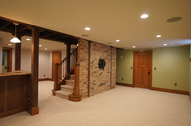 Eclectic Basement Family Room
