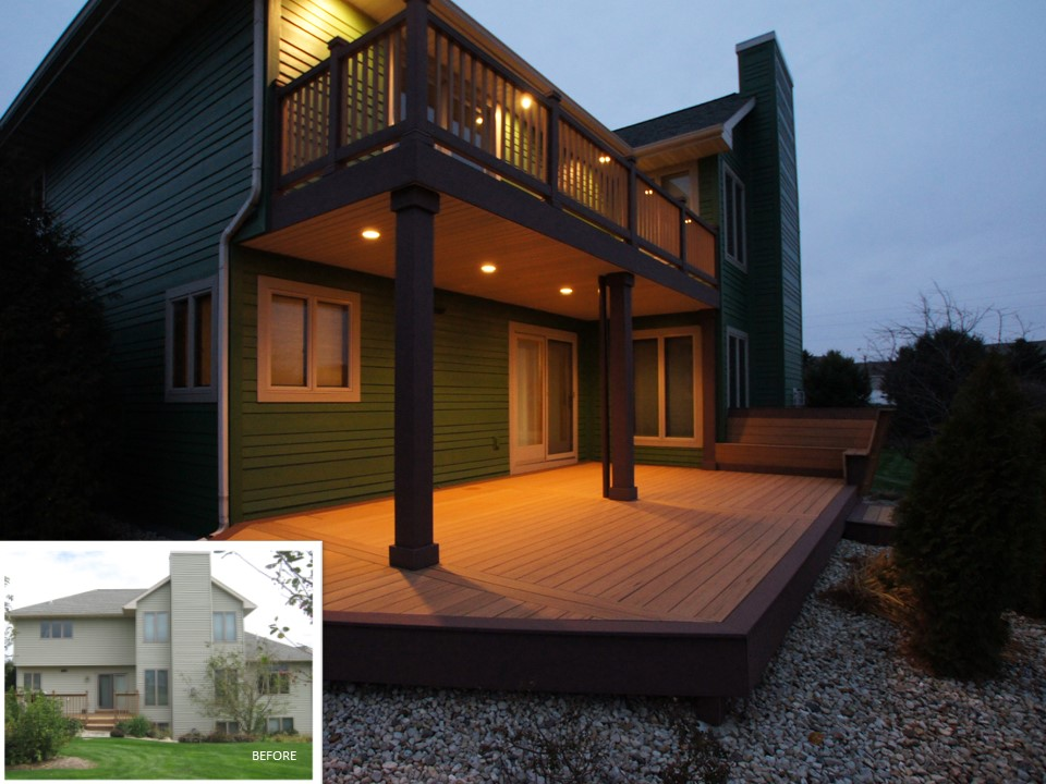 Two-Story Deck in Waunakee, WI