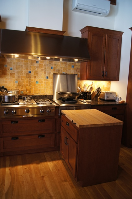 Traditional Kitchen- Movable Island