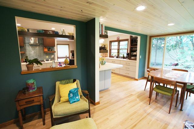Contemporary Retro Kitchen Remodel in Madison, WI