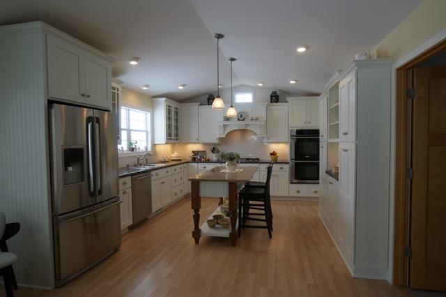 White Farmhouse Kitchen Remodel in Madison, WI