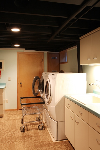 Retro Basement Laundry Room in Madison, WI