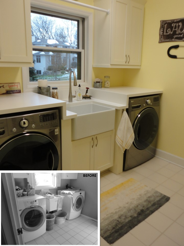Bright Laundry Room Update in Madison, WI