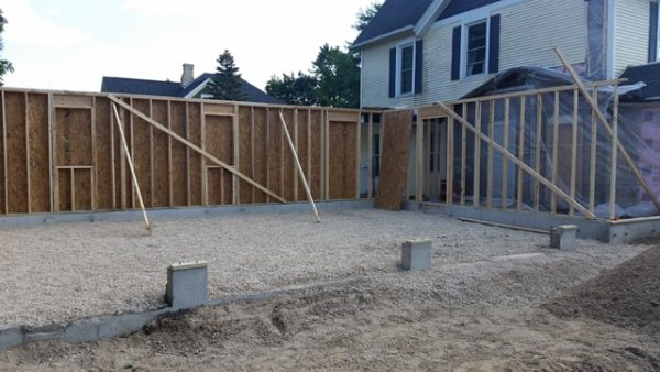 Garage Addition During- Framing