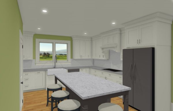 Kitchen Remodel 3D View