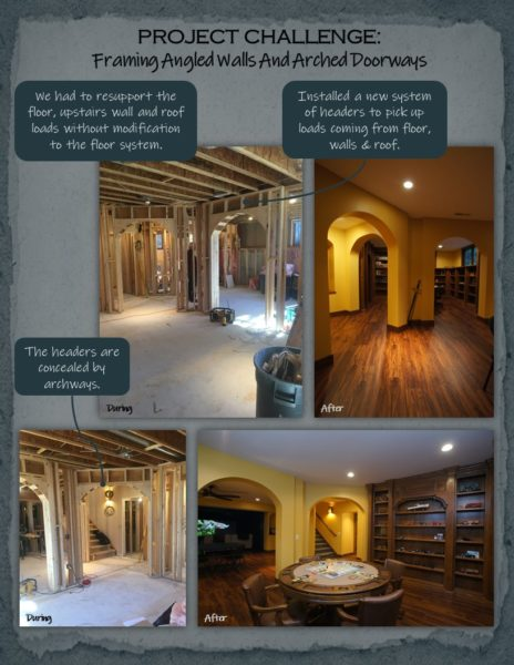 Basement Remodel archways
