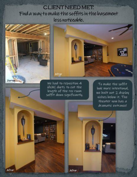 Basement Remodel soffits