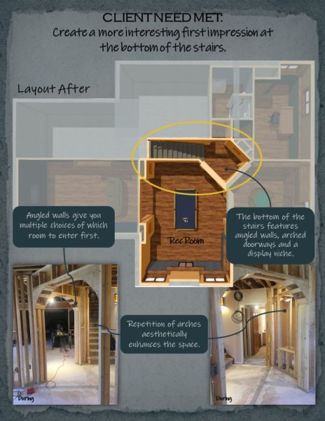 Basement Remodel floor plan