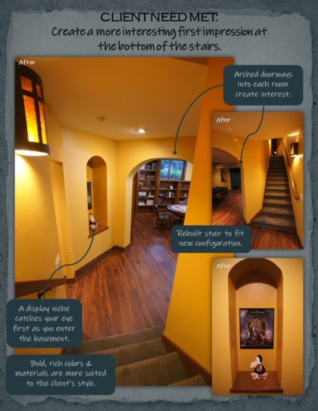 Basement Remodel stairs
